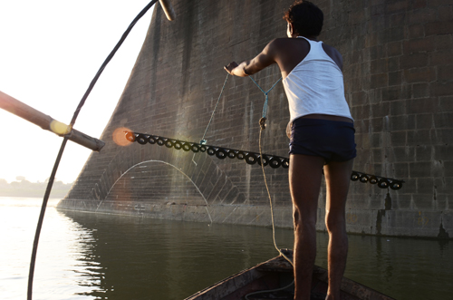 Last year, when the Indian Railways officials wanted to estimate the extent of repairs to be carried out on Nani bridge, they sought the help of the mallahs to check the beams near the bottom of the river Photographs by: Meeta AhlawatRead also: Natural highways