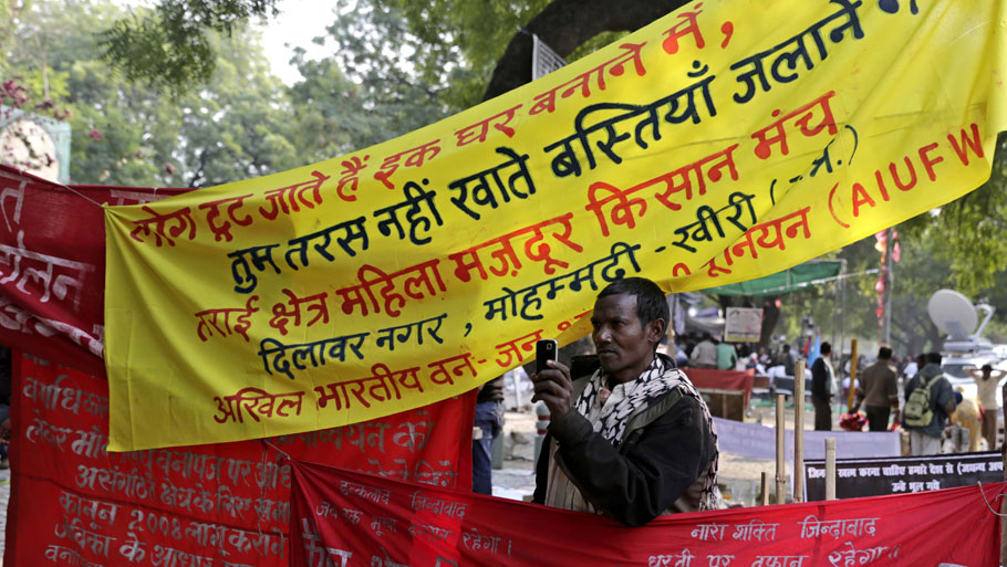 The protesters included forest dwellers from Uttar Pradesh, Bihar, Jharkhand, West Bengal, Madhya Pradesh, Chhatisgarh, Odisha and Arunachal Pradesh