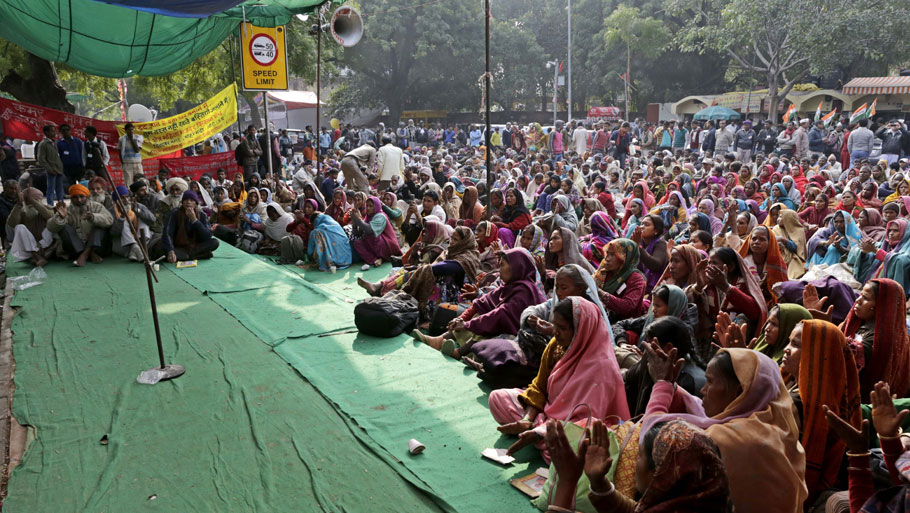 The All India Union of Forest Working People (AIUFWP), one of the largest unions of forest working dwellers, observed the eighth anniversary of Forest Rights Act, 2006, in New Delhi on Monday Photos: Vikas Choudhary