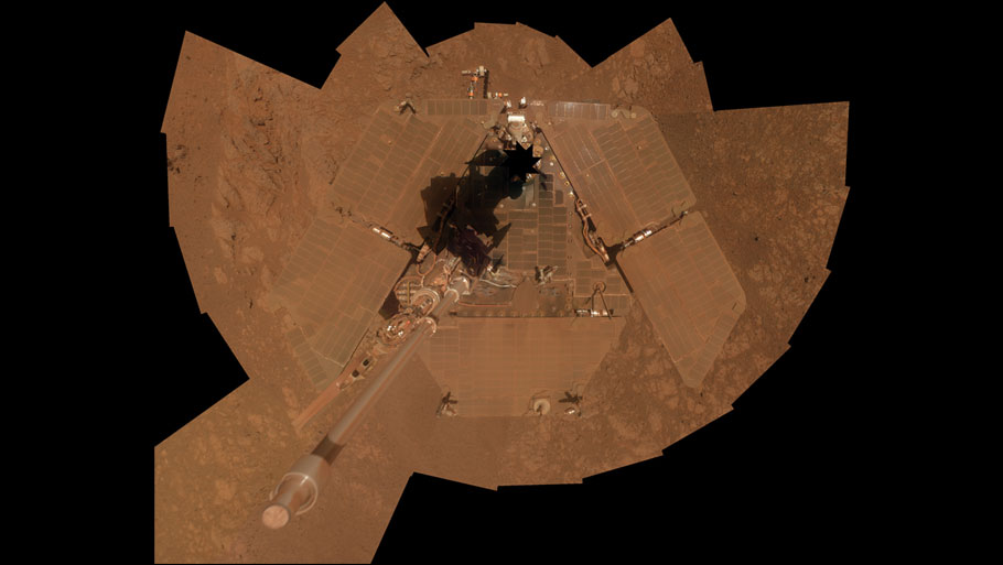 This before-and-after pair of images of the same patch of ground in front of the rover, taken 13 days apart, documents the arrival of a bright rock on to the scene. The one on the left is from 3,528th Martian day, or sol, of the rover Opportunity's work on Mars (December 26, 2013). The one on the right, with the newly arrived rock, is from Sol 3540 (January 8, 2014).Photo courtesy: NASA/JPL-Caltech