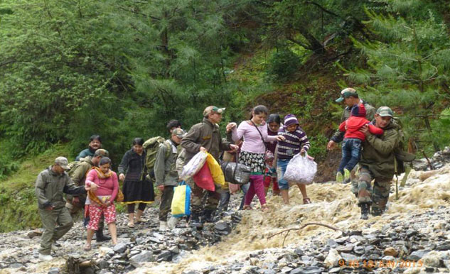 More than 200 pilgrims have been evacuated by foot, and housed at Joshimath