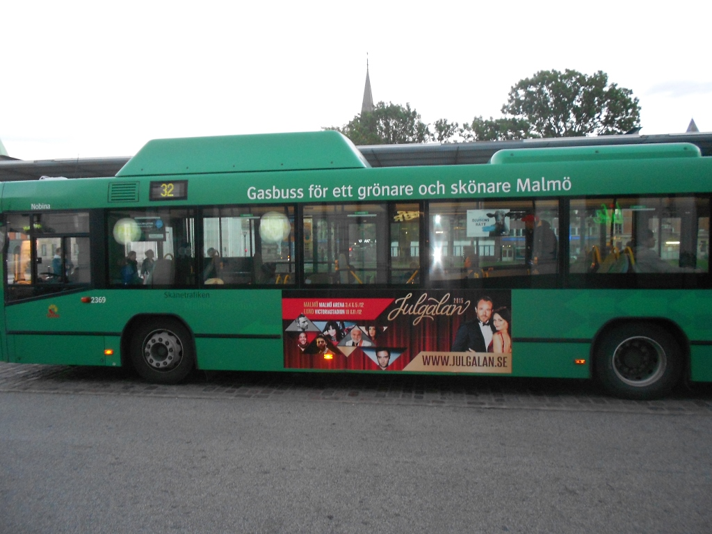 A city bus in Malmö run on biogas from local municipal waste