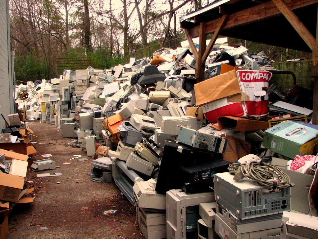Approximately 20 to 50 million tonnes of electronic wastes are produced globally every year  Credit: Curtis Palmer/Flickr