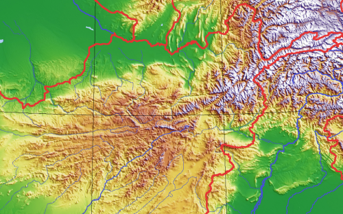 The rugged Hindu Kush range, which spreads in an arc across Afghanistan, is a very seismically-sensitive area   Credit: Wikipedia