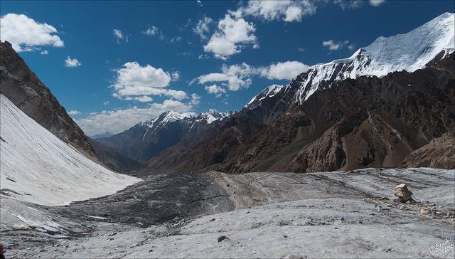 Glaciers in the Tian Shan mountain range are melting at an alarming rate. Credit: Oleg Brovko/Flickr (Oleg Brovko/Flickr)