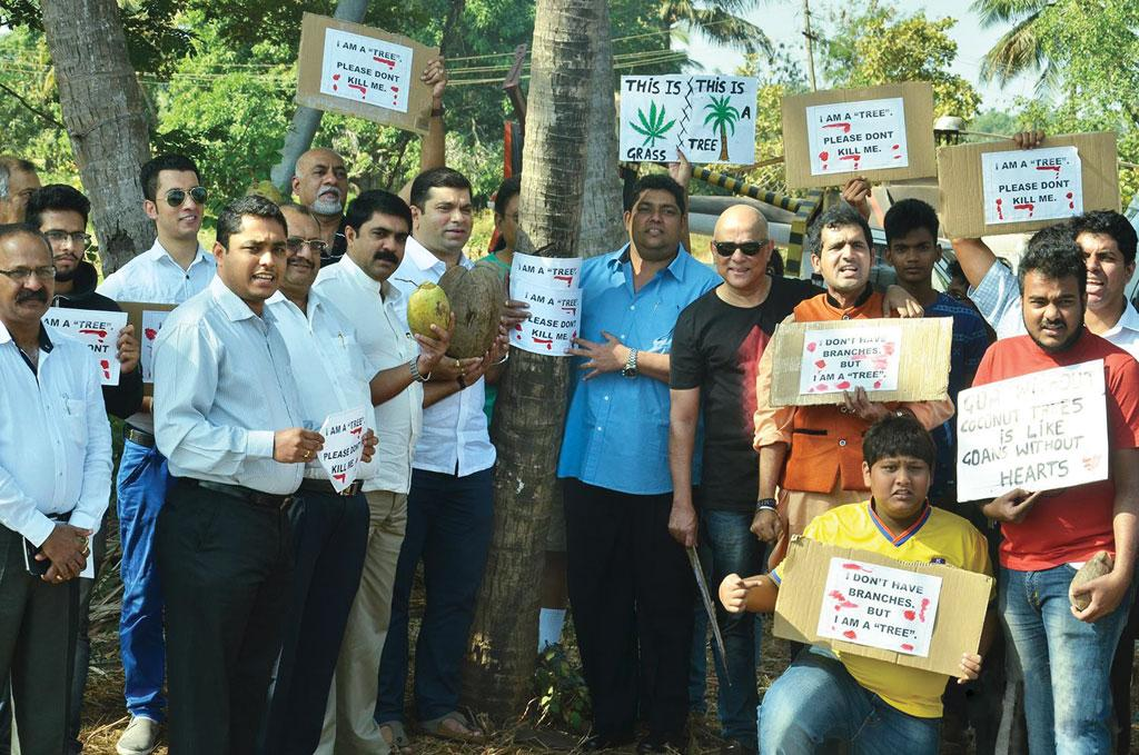 On January 14, a protest was held in Goa against the government decision to derecognise coconut palm as a tree (Courtesy: Goa Forgiving)