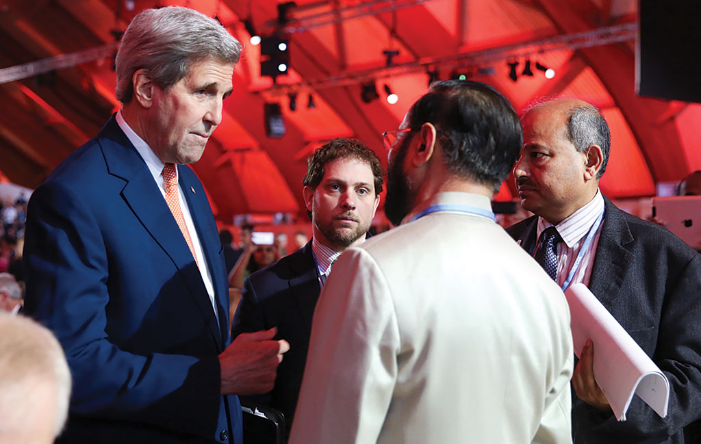 For 25 years, the US had obstructed action on climate change. But in a speech given on December 9, US Secretary of State John Kerry (left) suggested that the entire world was complicit to US' disavowal of the phenomenon