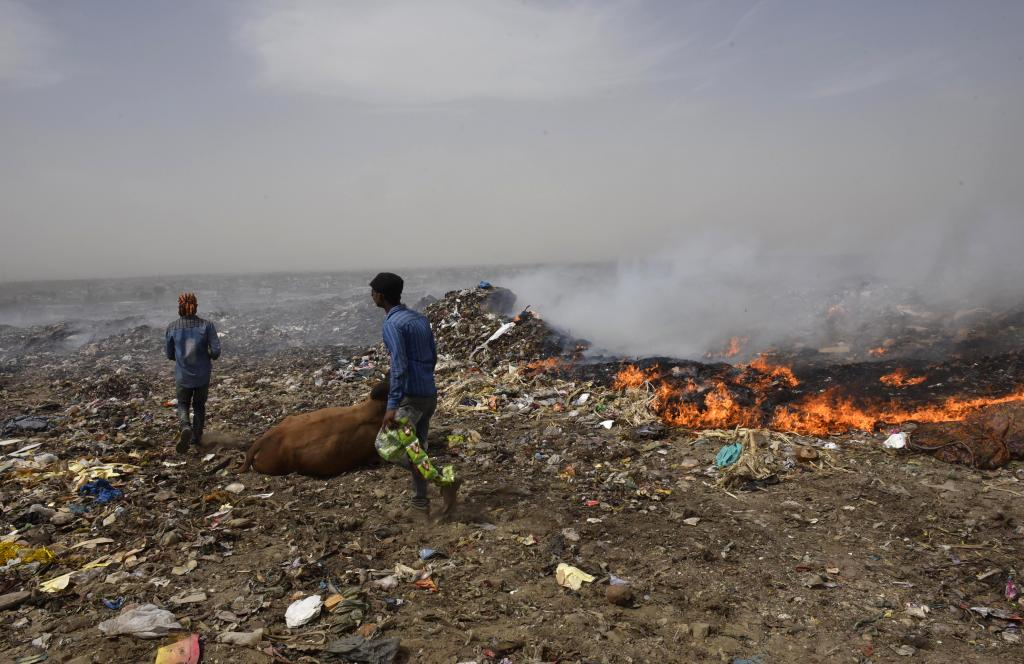 People working in the landfill and directly exposed to the toxic fumes