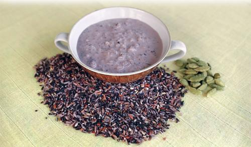 Chak-hao (black rice pudding or kheer)