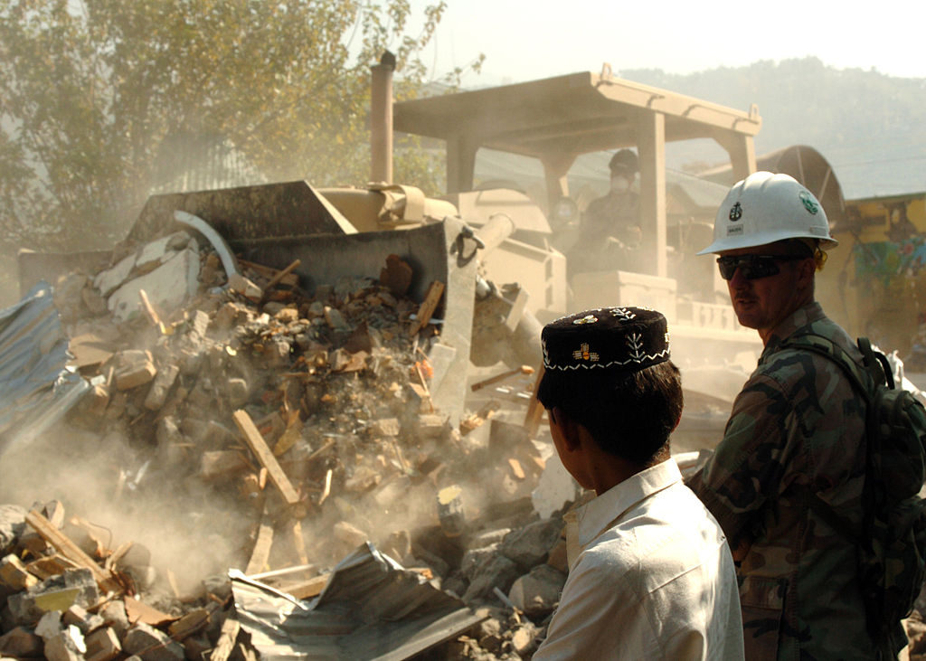 A representative picture from a quake in Pakistan (Photo: US Navy)