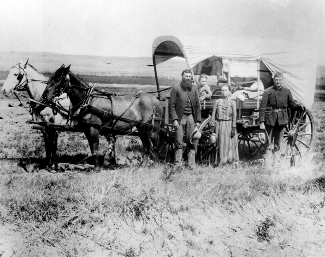 A family migrating to western US in 1886 (Marion Doss/Flickr, CC BY-SA)