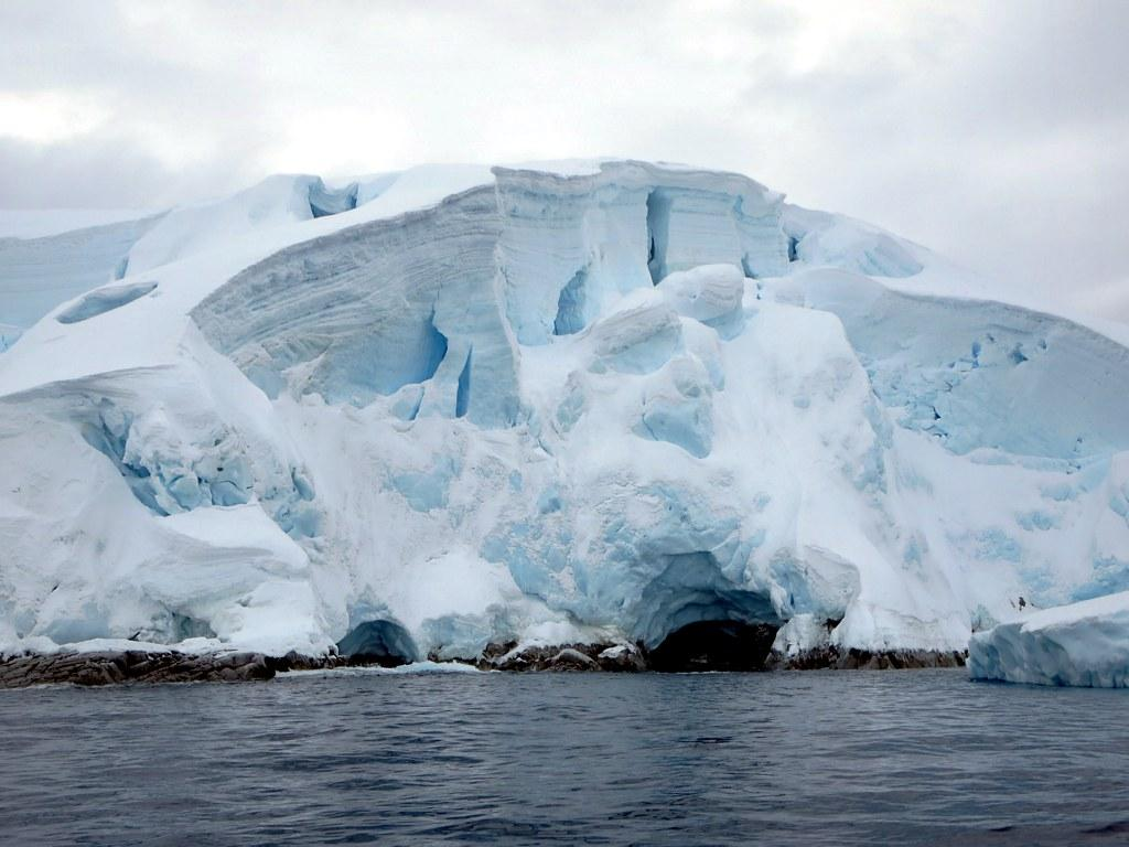 Glaciers on the Melchoir Islands off Antarctica Credit: David Stanley, Flickr