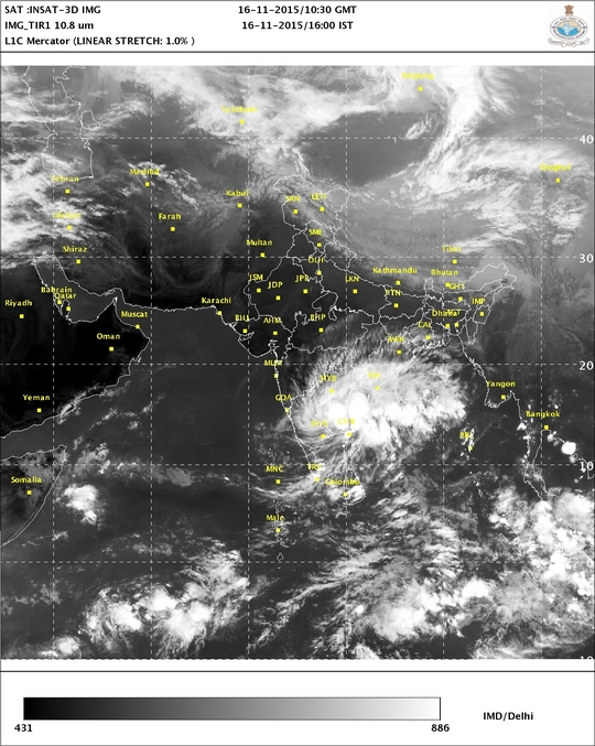 India Meteorological Department (IMD) has forecast that rains are set to continue for another day (Photo courtesy: IMD)