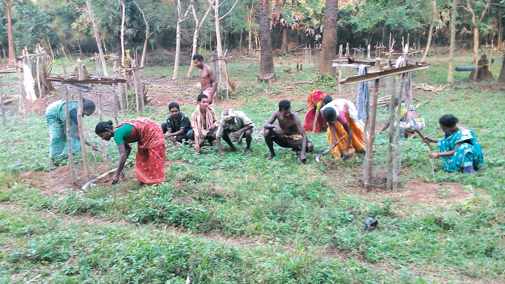 Members of farmers' clubs in Telangana. The clubs are helping farmers adopt farm mechanisation (Photo: Ch Narendra)
