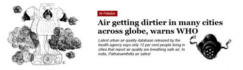 Air Pollution - Air getting dirtier in many cities across globe, warns WHO