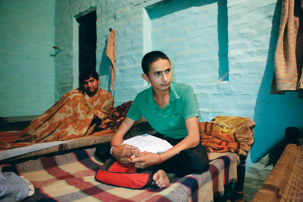 Fourteen-year-old Rahul Singh is a student of class IX in Ismaila village