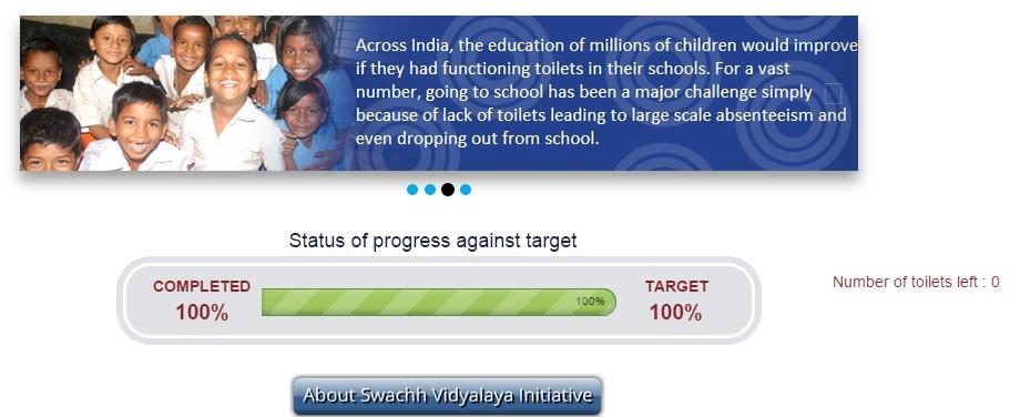 Swachh Vidyalaya website