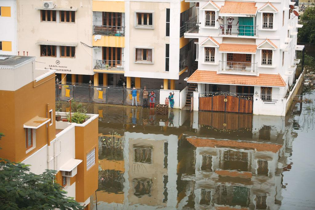 Most of the ground