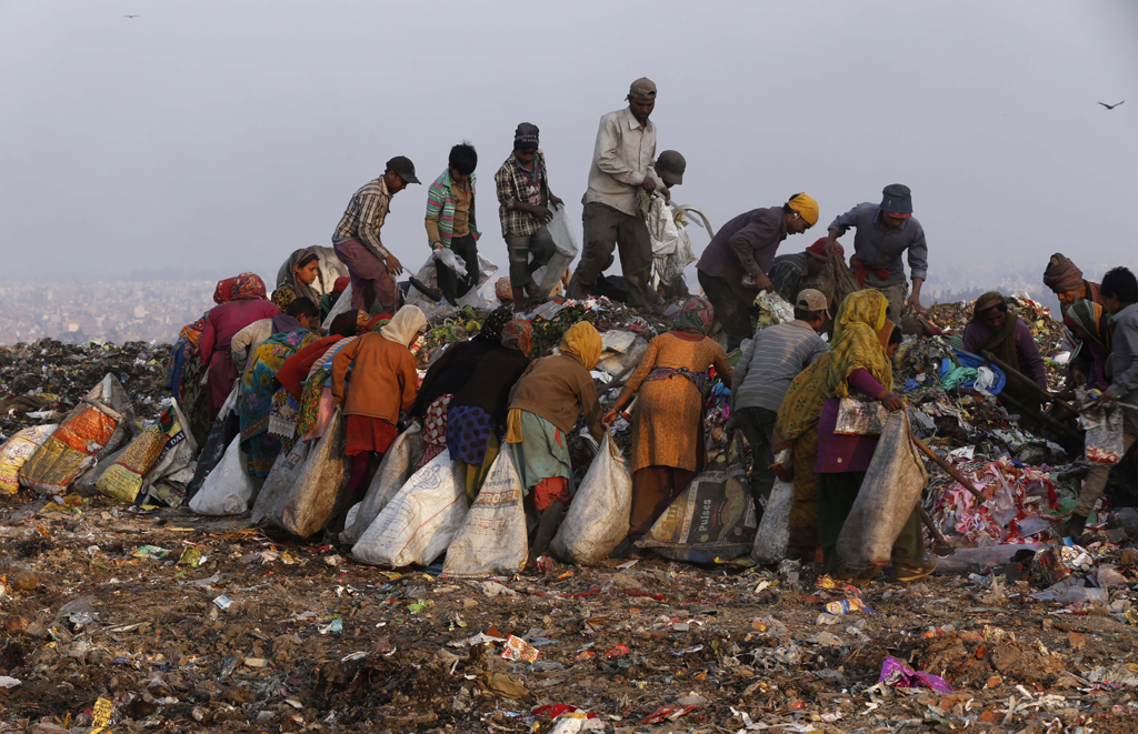 Delhi generates close to 4,000 truckloads of waste every day. As soon as a truck unloads garbage, ragpickers jump into the heap and start segregating