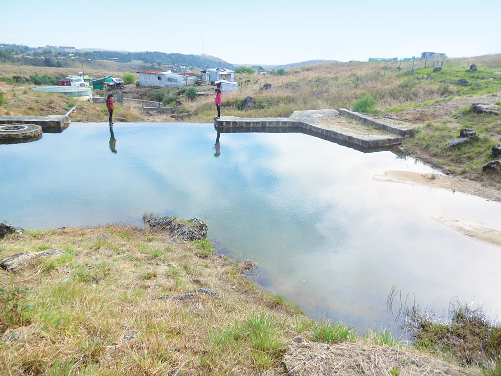 The nearly dead Wah Shari Spring has given rise to a pool just in six months (Photo: Karnika Bahuguna)