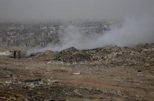 Fumes from the Bhalswa fire affect thousands who live close to the landfill