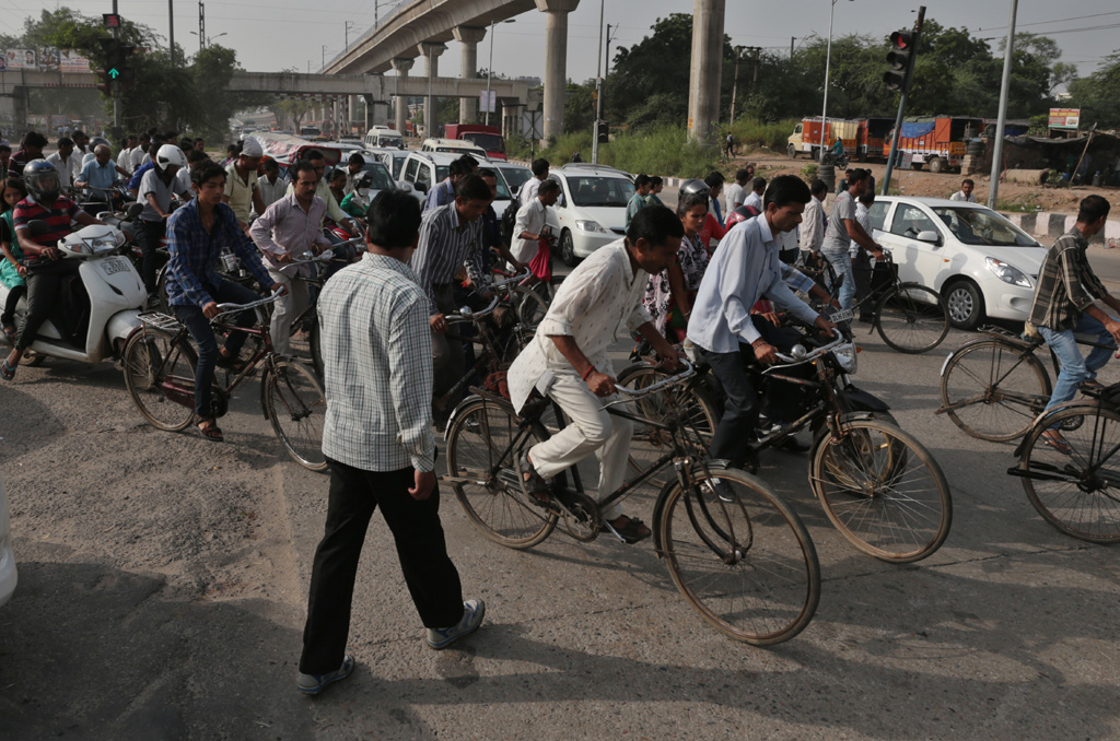 The Delhi Commonwealth Games 2010 saw cycle lanes spring up along many roads connecting important stadiums. With the games over, cycles lanes have fallen into neglect with motorbikes often encroaching upon the space. The purpose of encouraging people to cycle and providing safety to them has been defeated