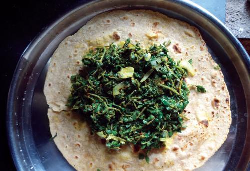 Stir-fried saratabhaji