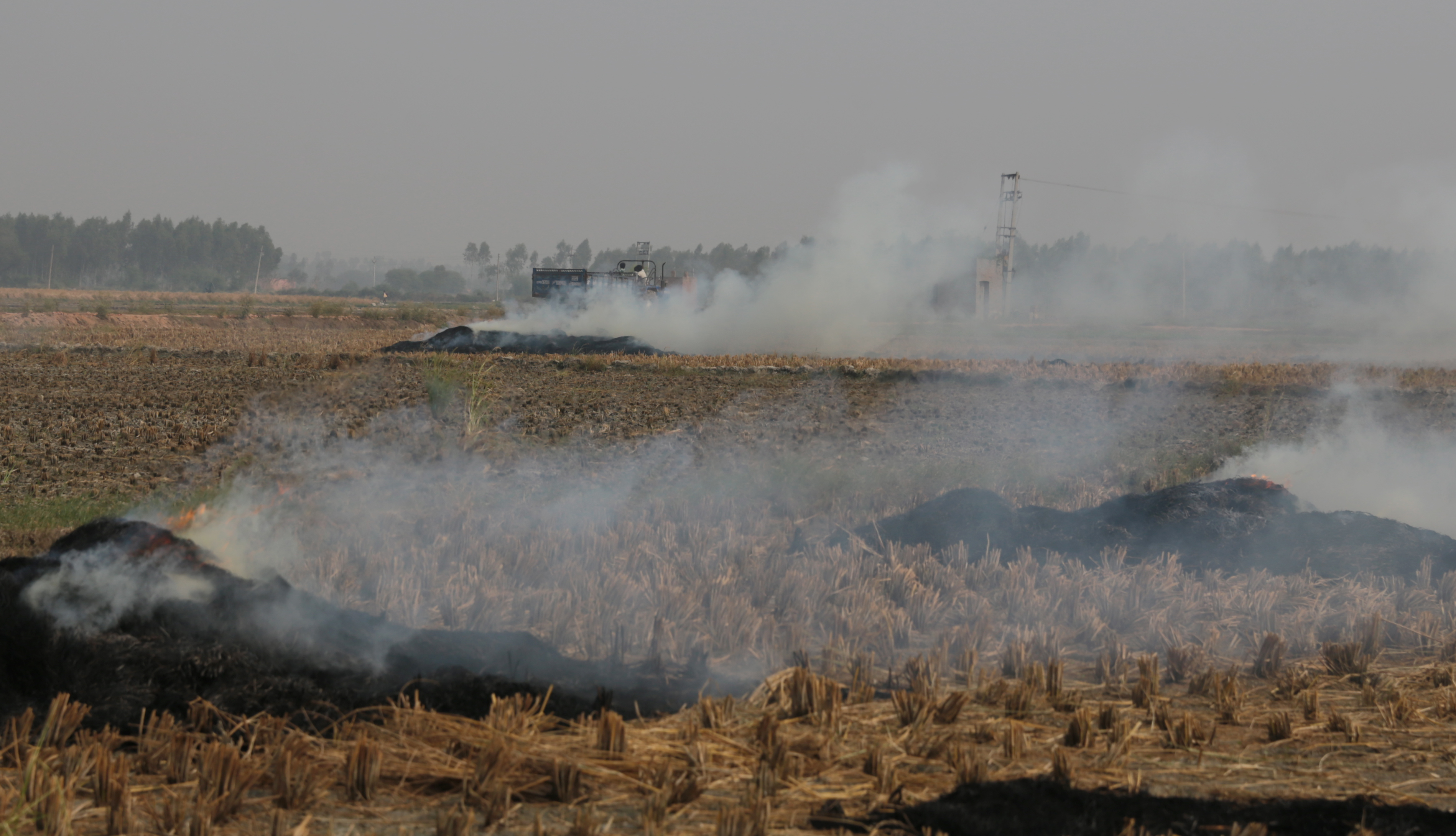 Paddy fields burning: Smog shrouds national capital