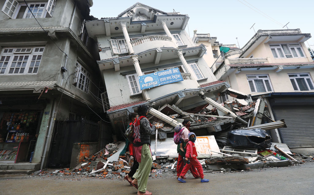 New research shows the earthquake that struck central Nepal in April this year was only a partial rupture of the fault line, meaning another strong quake could be due in future (Photo: Ravi)