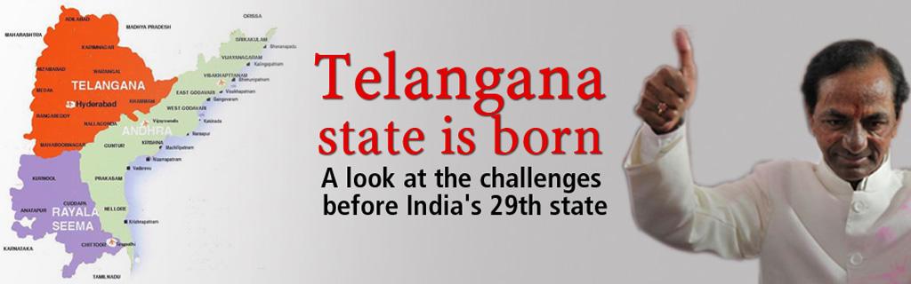 Telangana state is born