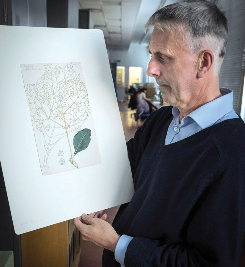 Henry Noltie with a