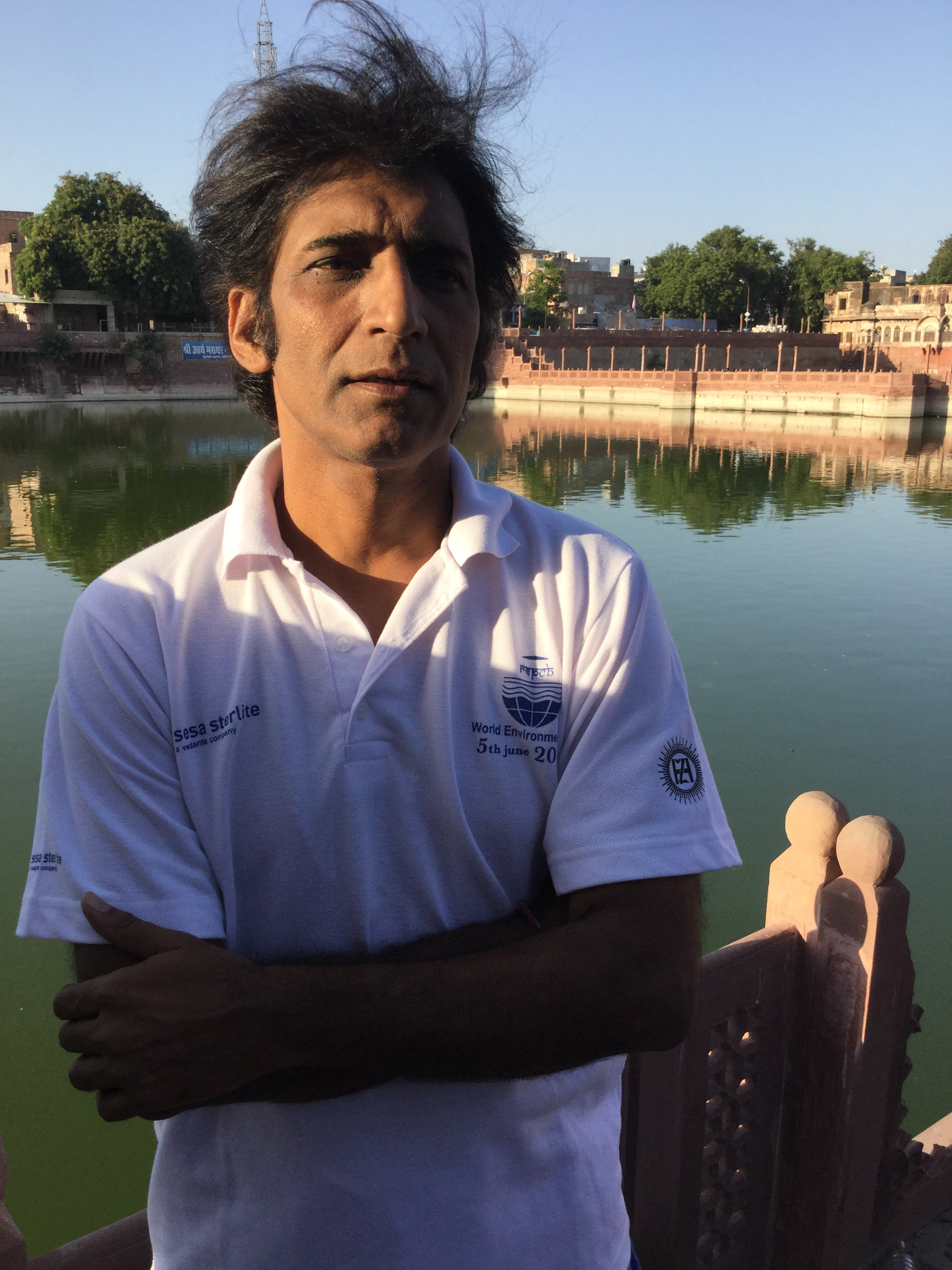 """Joshi is a self-motivated eco-warrior who has taken upon himself the responsibility of reviving the city's water heritage. """"Although abandoned, the wisdom which went into designing these wells is still at work, proven by the sparkling water which accumulates there. If they can be cleaned and restored, water from these structures can reduce the city's dependence on the canal,"""" he says"""