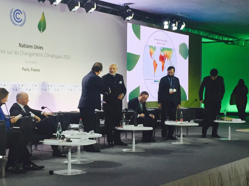 COP21: India and France show the way ahead by launching Solar Alliance