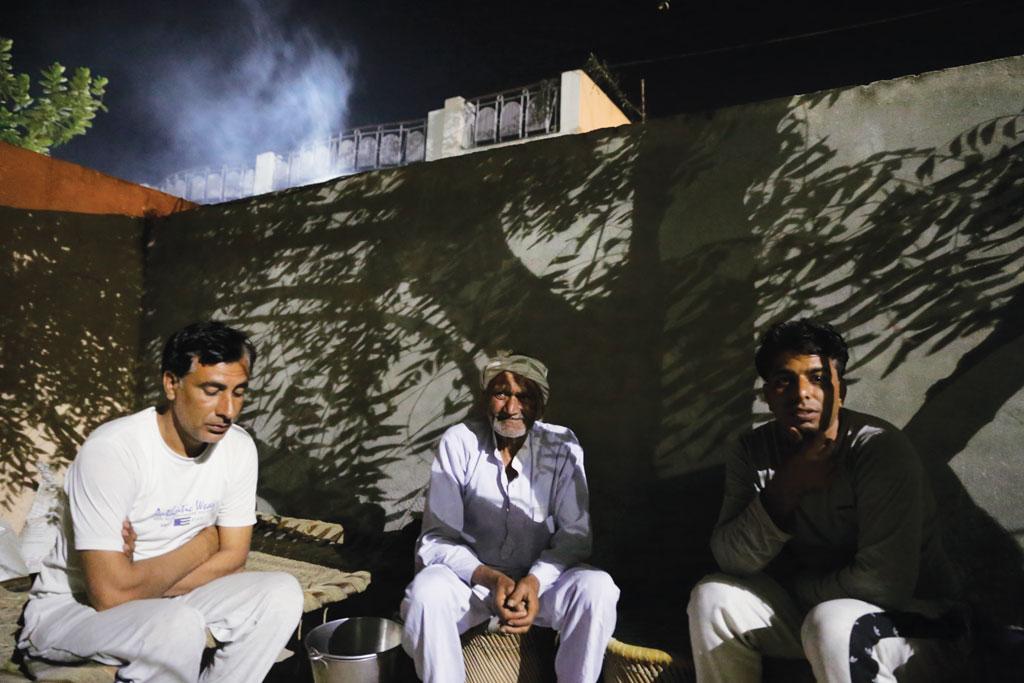 (Left to right) Sandeep Khatri, Dharam Singh and Pradeep Khatri are Jat farmers from Haryana's Ismaila village