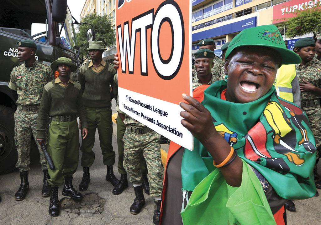 Farmers from developing countries protest opening up of local markets to foreign imports at the WTO meet (Photo: Reuters)