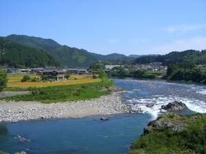 A view of the Nagara River in Japan. It is one of the cleanest rivers that provides a number of ecosystem services Credit: Nagara River Agriculture, Forestry and Fisheries Promotion Association (taken from FAO website)