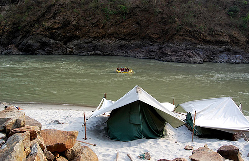 Rafting activity has been very popular since late 1980s (Sahil/Flickr)