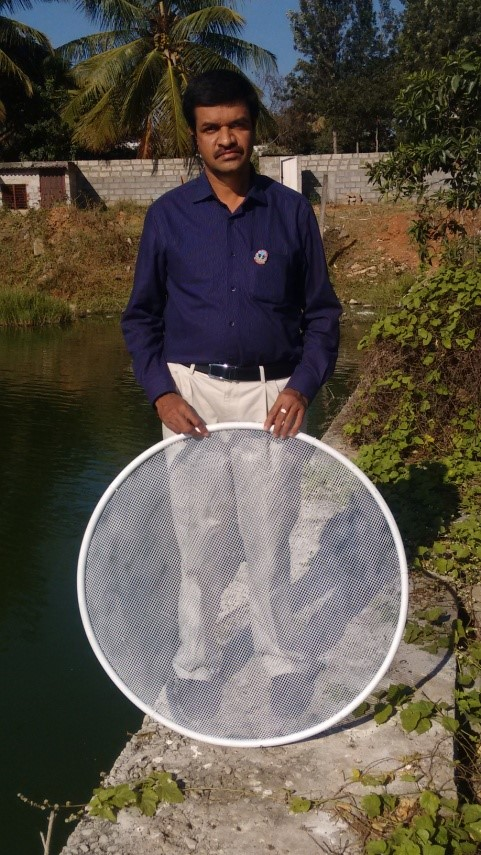 K Madhusudan with his technology Courtesy: Prithvi Eco Sciences Pvt Ltd
