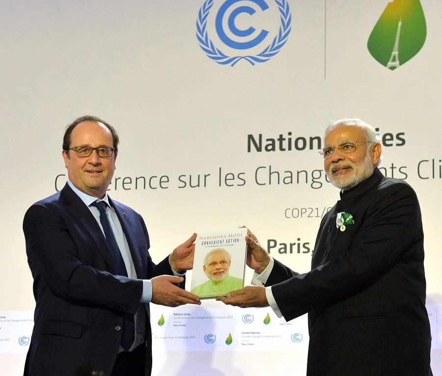 India played a vital role in the climate change agreement signed at the COP21 in Paris last year (Photo courtesy: PIB)