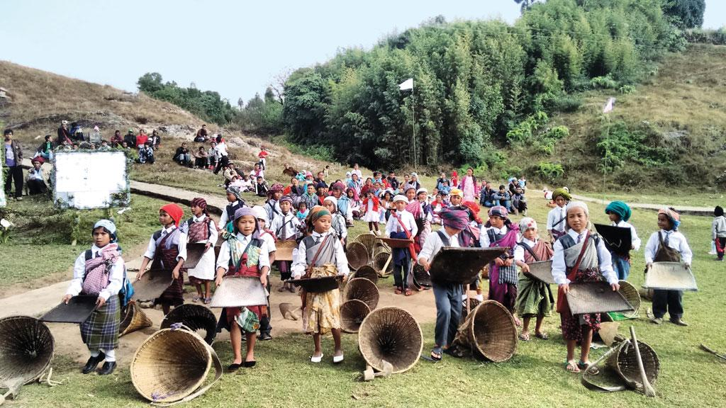 A performance  at the food and biodiversity festival Indigenous Terra Madre in Pyrda village in Shillong. Meghalaya is promoting itself as a tourism hot spot (Photo: Karnika Bahuguna)