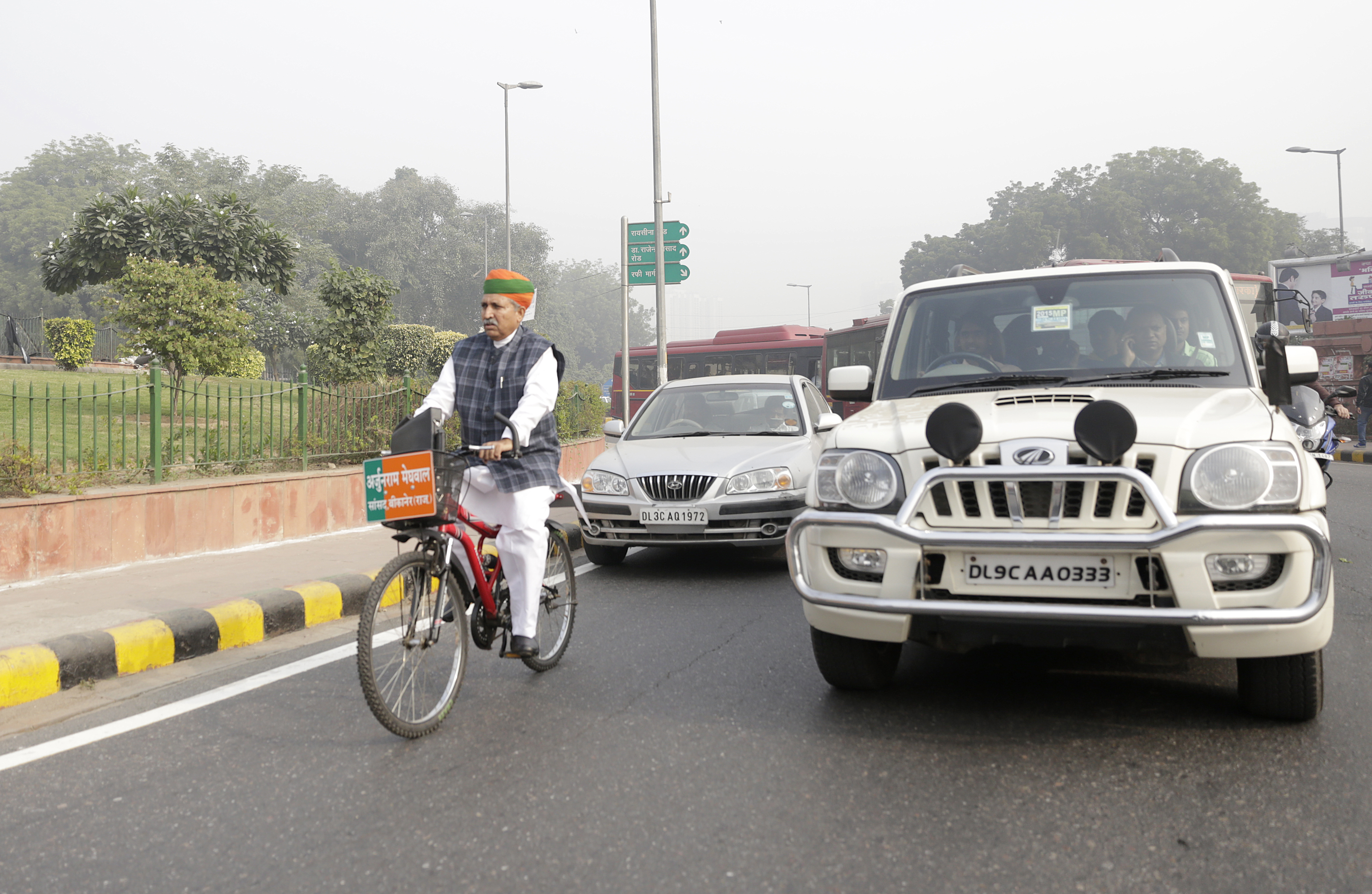 Meghwal says that if Delhi adds bicycle tracks, people will be motivated to choose them over other modes of transport. He adds that he has placed this suggestion before the police commissioner