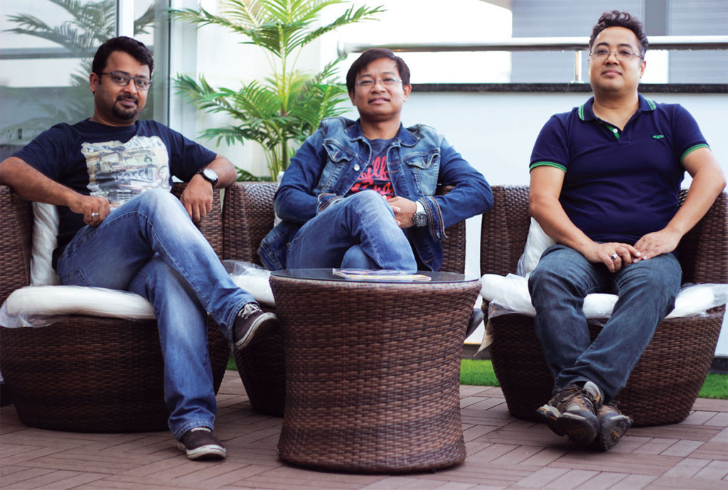 (from left) Founders of giskaa.com Ratheesh Elayat, Meghanath Singh and