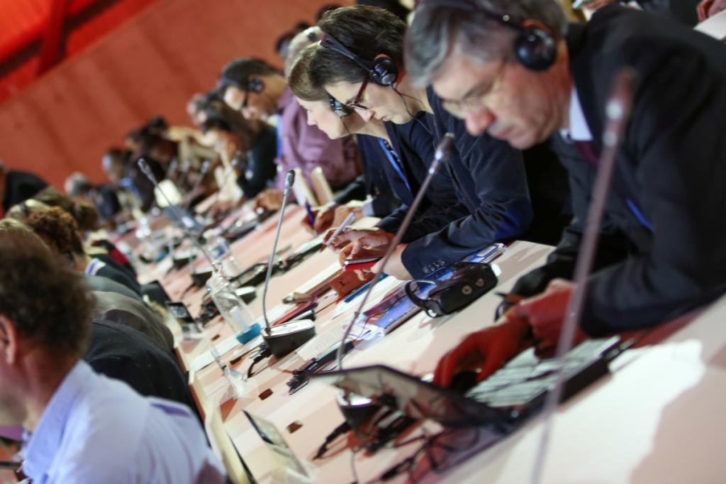 Negotiators at the COP21 Paris